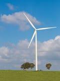 zielone pola, turbiny wiatr Zdjęcia Stock