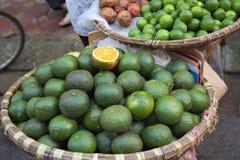 zielone pomarańcze Obraz Royalty Free