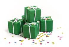 zielone pudełko Fotografia Royalty Free