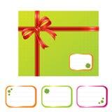 zielone pudełkowata prezent Zdjęcia Royalty Free