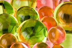 zielone różowe sfery Fotografia Stock