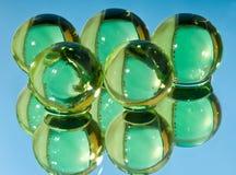 zielone sfery Zdjęcie Royalty Free