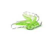 Zielone stomatologiczne stałe wynagrodzenie ortodoncje, odizolowywać na białym tle Zdjęcia Stock