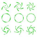 Zielone strzała Fotografia Stock