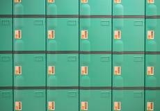 Zielone szafki Zdjęcia Stock