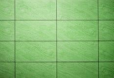 Zielone tło płytki Fotografia Stock