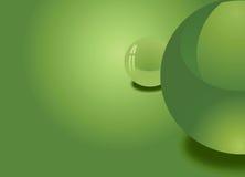 zielone tło sfery Obrazy Stock