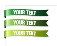 zielone tasiemkowe serie Zdjęcie Royalty Free