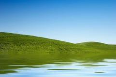 zielone trawiastych wzgórz Obrazy Stock
