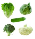 zielone warzywa Fotografia Royalty Free