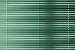 zielone windowblinds Obrazy Stock