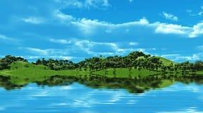 zielone wzgórza Obrazy Royalty Free
