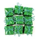 zielone zapakować prezent Obrazy Stock
