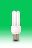 zielonego światła żarówki oszczędność energii Obraz Stock