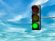 zielonego światła ruch drogowy Zdjęcia Royalty Free