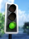 zielonego światła ruch drogowy Obraz Royalty Free