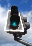 zielonego światła ruch drogowy Zdjęcia Stock