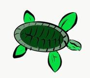 Zielonego żółwia sztuki fotografii Morskiego życia Zielonego koloru Wektorowy Ilustracyjny Zwierzęcy abstrakt ilustracja wektor