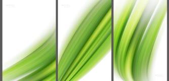 Zielonego Abstrakcjonistycznego tła nowoczesna technologia kolekcja obraz stock