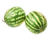 Zielonego arbuza owocowy skład odizolowywający Fotografia Royalty Free