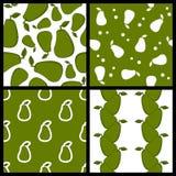 Zielonego Avocado Bezszwowi wzory Ustawiający Zdjęcie Royalty Free