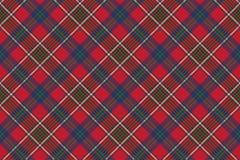Zielonego czerwonego klasycznego tartanu czeka tkaniny bezszwowa tekstura Zdjęcia Stock