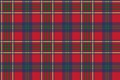 Zielonego czerwonego klasycznego tartanu czeka tkaniny bezszwowa tekstura Zdjęcie Royalty Free