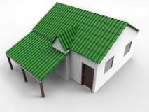 zielonego domu ilustracja ilustracja wektor