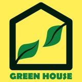 Zielonego domu logo ilustracja wektor