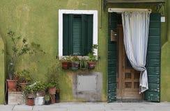 zielonego domu stary kamień Fotografia Stock