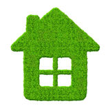 zielonego domu symbol Zdjęcia Royalty Free