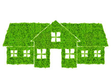 zielonego domu symbol Obraz Royalty Free