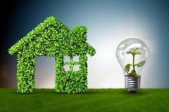 Zielonego domu władzy pojęcie - 3d rendering Zdjęcia Stock