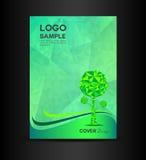 Zielonego Eco pokrywy projekta Książkowej pokrywy wektorowy ilustracyjny projekt Fotografia Royalty Free