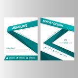 Zielonego etykietki broszurki prezentaci wielocelowego szablonu płaski projekt Zdjęcia Stock