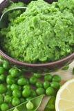 zielonego grochu puree Obrazy Royalty Free