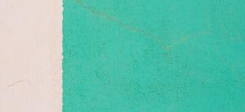 Zielonego i białego grunge tynku tekstury sztandaru formalnie tło Fotografia Stock