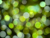 Zielonego i białego round rozjarzony jaskrawy lekki abstrakt zaświeca na czarnym tle obrazy royalty free