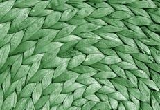 Zielonego koloru słomy maty round tekstura Obraz Stock