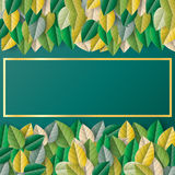 Zielonego liścia papieru rżnięty projekt dekoracyjny dla sprzedaży greeti lub sztandaru Zdjęcia Stock