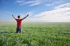 zielonego mężczyzna łąka Fotografia Stock