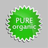 Zielonego majcheru Czysty organicznie Obraz Stock