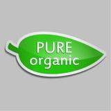 Zielonego majcheru Czysty organicznie Obrazy Royalty Free
