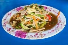 Zielonego melonowa korzenny sałatkowy Tajlandzki styl Fotografia Stock
