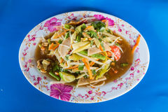 Zielonego melonowa korzenny sałatkowy Tajlandzki styl Obraz Royalty Free