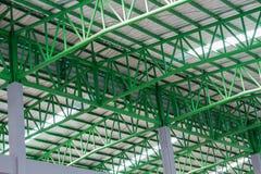 Zielonego metalu dachowa struktura, dachowa struktura Zdjęcia Stock