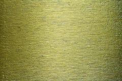 Zielonego metalu mosiądza tła porysowana tekstura Fotografia Stock