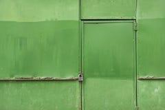 zielonego metalu ośniedziała ściana Obrazy Stock