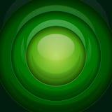 Zielonego metalu round kształty Obraz Stock