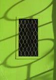 Zielonego metalu wejściowy drzwi Zdjęcie Royalty Free